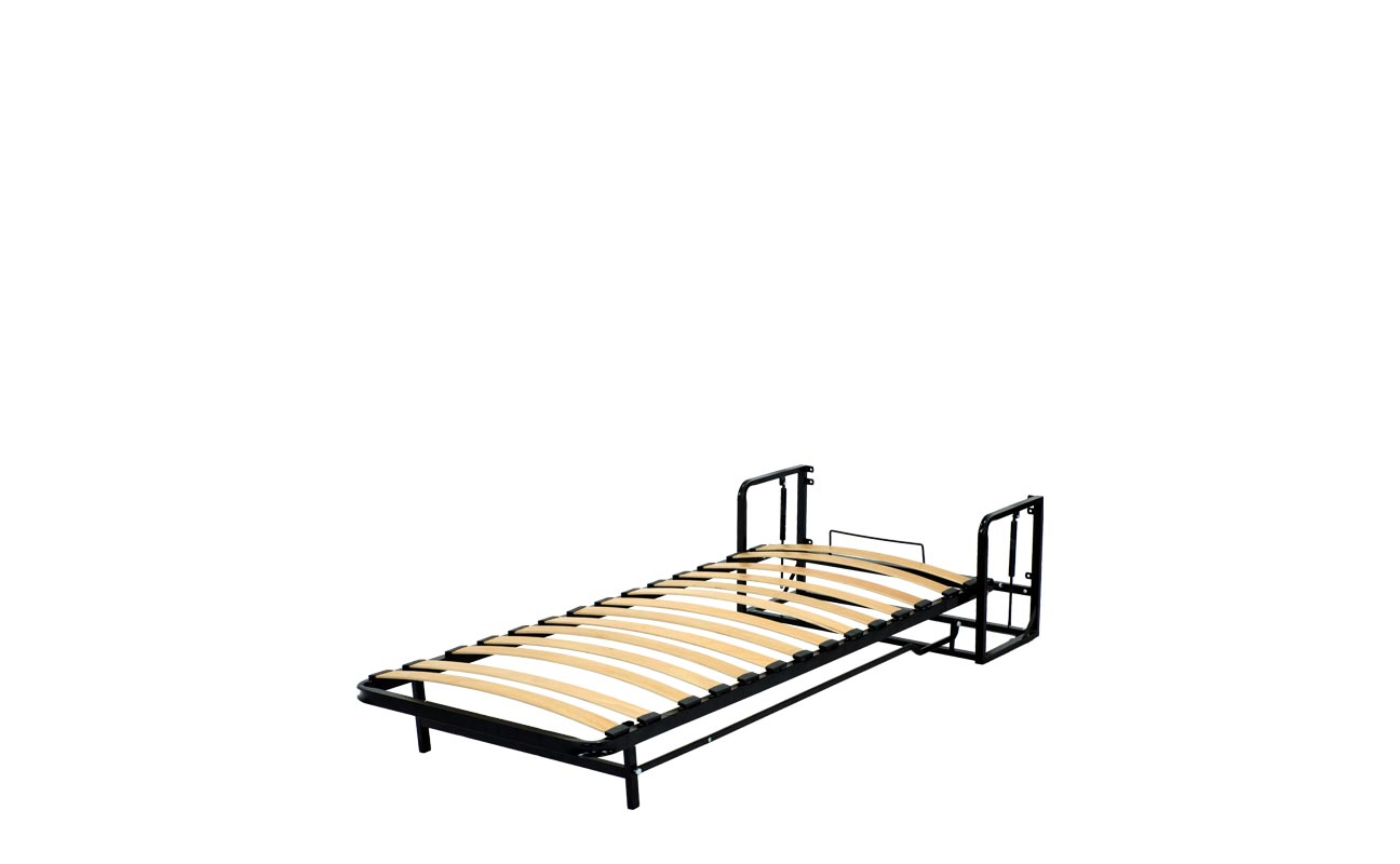 Single vertical wall bed frame 9